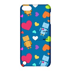 Robot Love Pattern Apple Ipod Touch 5 Hardshell Case With Stand