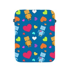Robot Love Pattern Apple Ipad 2/3/4 Protective Soft Cases by allthingseveryday