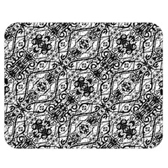 Black And White Ornate Pattern Double Sided Flano Blanket (medium)  by dflcprints