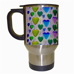 Love In Eternity Is Sweet As Candy Pop Art Travel Mugs (white) by pepitasart