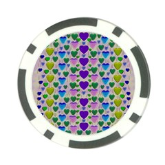 Love In Eternity Is Sweet As Candy Pop Art Poker Chip Card Guard (10 Pack) by pepitasart