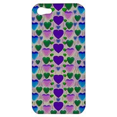 Love In Eternity Is Sweet As Candy Pop Art Apple Iphone 5 Hardshell Case by pepitasart