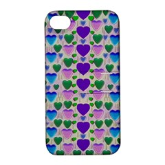 Love In Eternity Is Sweet As Candy Pop Art Apple Iphone 4/4s Hardshell Case With Stand by pepitasart