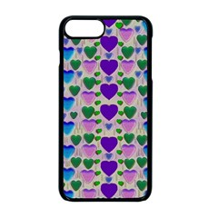 Love In Eternity Is Sweet As Candy Pop Art Apple Iphone 8 Plus Seamless Case (black) by pepitasart