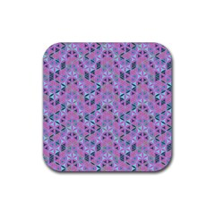 Sacred Geometry Pattern 2 Rubber Square Coaster (4 Pack)  by Cveti