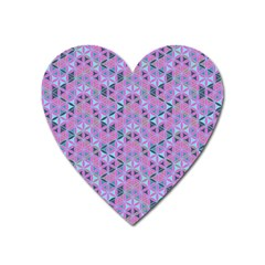 Sacred Geometry Pattern 2 Heart Magnet by Cveti