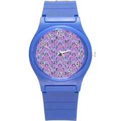 Sacred Geometry Pattern 2 Round Plastic Sport Watch (s) by Cveti