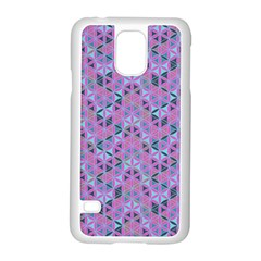 Sacred Geometry Pattern 2 Samsung Galaxy S5 Case (white) by Cveti