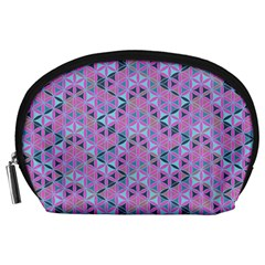 Sacred Geometry Pattern 2 Accessory Pouches (large)  by Cveti