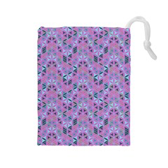Sacred Geometry Pattern 2 Drawstring Pouches (large)  by Cveti