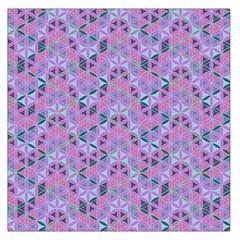 Sacred Geometry Pattern 2 Large Satin Scarf (square) by Cveti