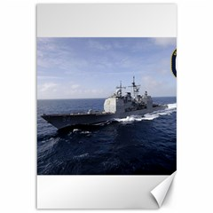 Uss Bunker Hill (cg 52) Canvas 12  X 18   by allthingseveryday
