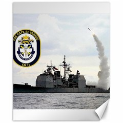 Uss Cape St  George (cg 71) Canvas 16  X 20   by allthingseveryday
