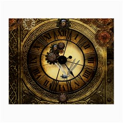 Wonderful Steampunk Desisgn, Clocks And Gears Small Glasses Cloth by FantasyWorld7