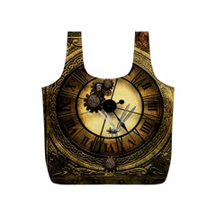 Wonderful Steampunk Desisgn, Clocks And Gears Full Print Recycle Bags (s)  by FantasyWorld7