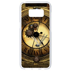 Wonderful Steampunk Desisgn, Clocks And Gears Samsung Galaxy S8 White Seamless Case by FantasyWorld7