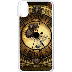Wonderful Steampunk Desisgn, Clocks And Gears Apple Iphone X Seamless Case (white)