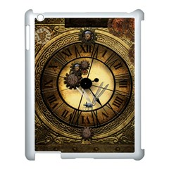 Wonderful Steampunk Desisgn, Clocks And Gears Apple Ipad 3/4 Case (white) by FantasyWorld7