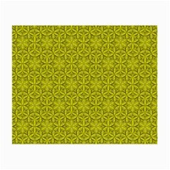 Flower Of Life Pattern Lemon Color  Small Glasses Cloth (2 Side) by Cveti