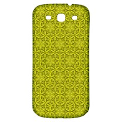 Flower Of Life Pattern Lemon Color  Samsung Galaxy S3 S Iii Classic Hardshell Back Case by Cveti