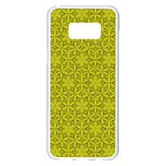 Flower Of Life Pattern Lemon Color  Samsung Galaxy S8 Plus White Seamless Case by Cveti