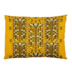 Rain Showers In The Rain Forest Of Bloom And Decorative Liana Pillow Case by pepitasart