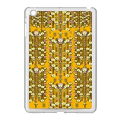 Rain Showers In The Rain Forest Of Bloom And Decorative Liana Apple Ipad Mini Case (white) by pepitasart