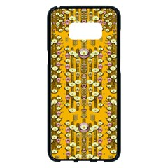 Rain Showers In The Rain Forest Of Bloom And Decorative Liana Samsung Galaxy S8 Plus Black Seamless Case by pepitasart