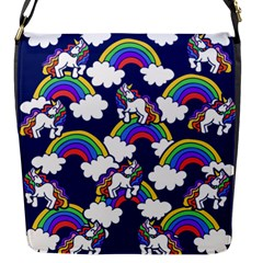 Rainbow Unicorns Flap Messenger Bag (s) by BubbSnugg