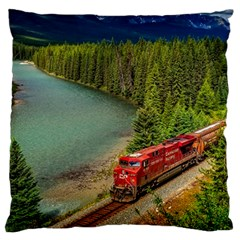 Canadian Railroad Freight Train Large Cushion Case (one Side) by allthingseveryday