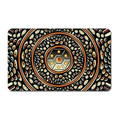 Dark Metal And Jewels Magnet (rectangular) by linceazul