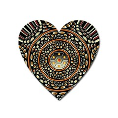 Dark Metal And Jewels Heart Magnet by linceazul