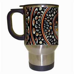 Dark Metal And Jewels Travel Mugs (white) by linceazul