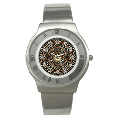 Dark Metal And Jewels Stainless Steel Watch by linceazul