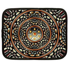 Dark Metal And Jewels Netbook Case (large) by linceazul