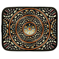 Dark Metal And Jewels Netbook Case (xl)  by linceazul