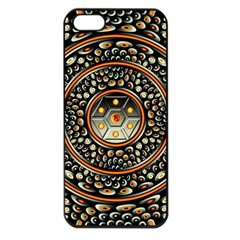 Dark Metal And Jewels Apple Iphone 5 Seamless Case (black) by linceazul