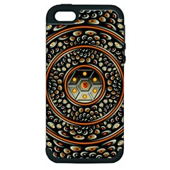 Dark Metal And Jewels Apple Iphone 5 Hardshell Case (pc+silicone) by linceazul