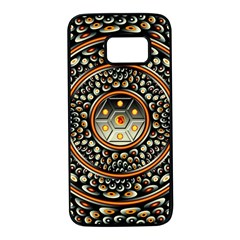 Dark Metal And Jewels Samsung Galaxy S7 Black Seamless Case by linceazul