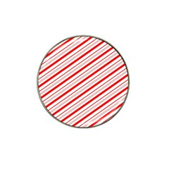 Candy Cane Stripes Hat Clip Ball Marker by jumpercat
