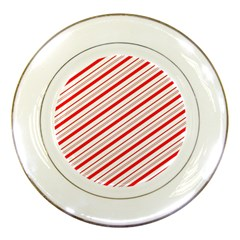 Candy Cane Stripes Porcelain Plates
