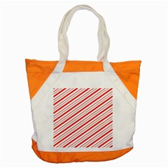 Candy Cane Stripes Accent Tote Bag