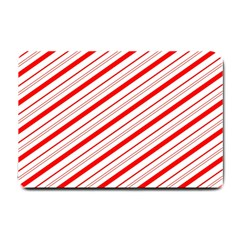 Candy Cane Stripes Small Doormat  by jumpercat