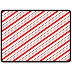Candy Cane Stripes Fleece Blanket (large)  by jumpercat