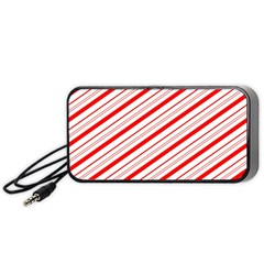 Candy Cane Stripes Portable Speaker