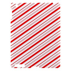 Candy Cane Stripes Apple Ipad 3/4 Hardshell Case by jumpercat
