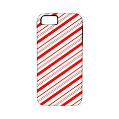 Candy Cane Stripes Apple Iphone 5 Classic Hardshell Case (pc+silicone) by jumpercat