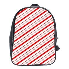Candy Cane Stripes School Bag (xl) by jumpercat