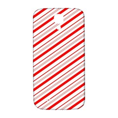 Candy Cane Stripes Samsung Galaxy S4 I9500/i9505  Hardshell Back Case