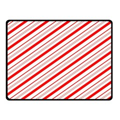 Candy Cane Stripes Double Sided Fleece Blanket (small)  by jumpercat